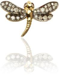 Annoushka - Love Diamonds Dragonfly Left Earring - Lyst