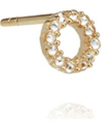 Annoushka - 18ct Gold Diamond Initial O Single Stud Earring - Lyst