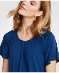 Ann Taylor | Gathered Angel Sleeve Top | Lyst