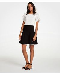 Ann Taylor - Petite Tipped Flare Sweater Skirt - Lyst
