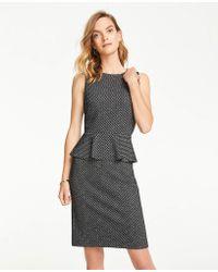 Ann Taylor - Herringbone Peplum Sheath Dress - Lyst
