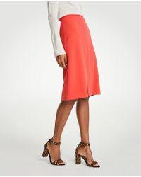 Ann Taylor - Tall Doubleweave A-line Skirt - Lyst