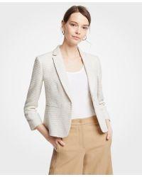 Ann Taylor - Petite Textured Tweed One Button Blazer - Lyst