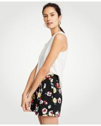 Ann Taylor | Winter Floral Pleated Shorts | Lyst