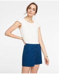 Ann Taylor - Cotton Mid Shorts - Lyst
