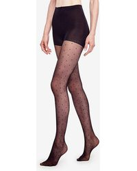 Ann Taylor - Sheer Dot Tights - Lyst