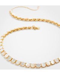 Ann Taylor - Pearlized Disc Necklace - Lyst