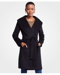 Ann Taylor - Petite Shawl Collar Wrap Coat - Lyst