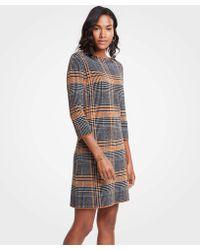Ann Taylor - Petite Plaid Sweater Shift Dress - Lyst