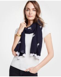 Ann Taylor - Pineapple Embroidered Scarf - Lyst