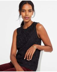Ann Taylor - Bonded Lace Shell - Lyst