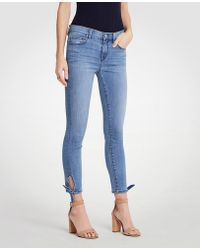 Ann Taylor - Curvy Ankle Tie All Day Skinny Crop Jeans - Lyst