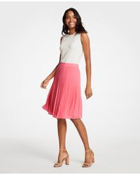 Ann Taylor - Tall Pleated Chiffon Skirt - Lyst