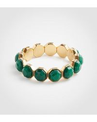 Ann Taylor - Hexagon Stone Stretch Bracelet - Lyst