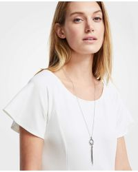 Ann Taylor - Snake Chain Pendant Necklace - Lyst