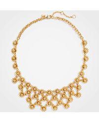 Ann Taylor - Metallic Daisy Statement Necklace - Lyst