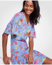 Ann Taylor - Tall Floral Flounce Shift Dress - Lyst