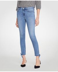 Ann Taylor - Modern Ankle Tie All Day Skinny Crop Jeans - Lyst