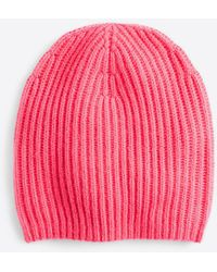 Ann Taylor - Cashmere Ribbed Hat - Lyst