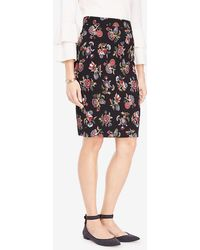 Ann Taylor - Petite Shawl Floral Pencil Skirt - Lyst