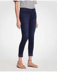 Ann Taylor - Modern Fringe All Day Skinny Crop Jeans - Lyst