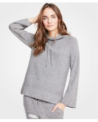 Ann Taylor - Drawstring Neck Sweater - Lyst