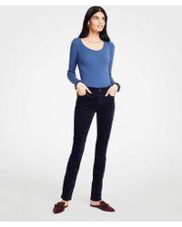 Ann Taylor - Petite Modern Skinny Velvet Jeans - Lyst