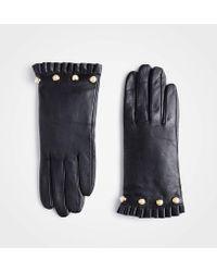 Ann Taylor - Pearlized Ruffle Cuff Gloves - Lyst