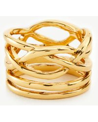 Ann Taylor - Intertwined Metallic Ring - Lyst