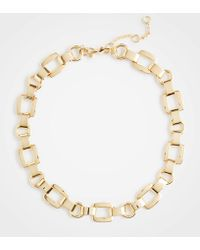 Ann Taylor - Square Metallic Necklace - Lyst