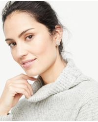 Ann Taylor   Pave Statement Stud Earrings   Lyst
