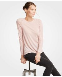 Ann Taylor - Ruched Sleeve Top - Lyst
