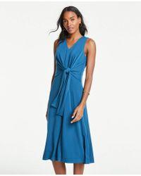 5765db333a53 Ann Taylor Petite Polka Dot Maxi Dress in Blue - Lyst