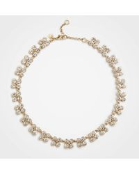 Ann Taylor - Clover Crystal Statement Necklace - Lyst