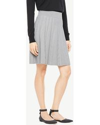 Ann Taylor - Stitched Flare Sweater Skirt - Lyst