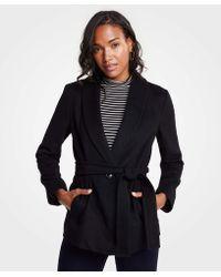 Ann Taylor - Shawl Collar Belted Coat - Lyst