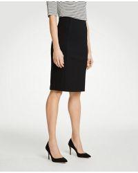 Ann Taylor - Curvy Ponte Pencil Skirt - Lyst