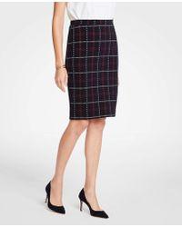 Ann Taylor - Petite Plaid Pencil Skirt - Lyst