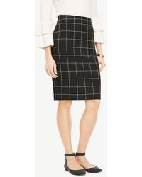 Ann Taylor - Curvy Windowpane Pencil Skirt - Lyst