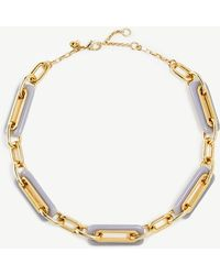 Ann Taylor - Rectangle Resin Necklace - Lyst