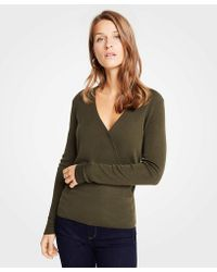 Ann Taylor - V-neck Crossover Sweater - Lyst