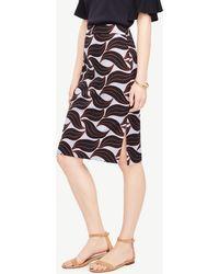 Ann Taylor - Leaf Swirl Pencil Skirt - Lyst