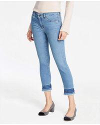 Ann Taylor - Released Hem Skinny Jeans - Lyst