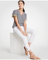 Ann Taylor - Tall Modern Ankle Tie Skinny Crop Jeans - Lyst