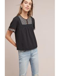d.RA - Embroidered Peasant Tee - Lyst