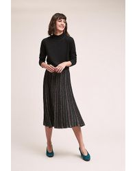 Anthropologie - Jupe Metallic-pleated Midi Skirt - Lyst