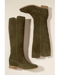 Anthropologie - Amana Suede Knee-high Boots - Lyst