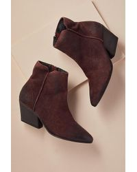 H by Hudson - Point-toe Suede Ankle Boots - Lyst