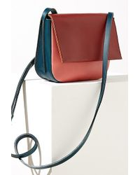 Anthropologie - Colourblocked Leather Crossbody Bag - Lyst