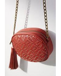 Deux Lux - Woven Oval Crossbody Bag - Lyst